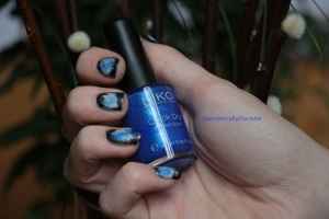 manucure-galaxy-galaxie-nail-art-vernis-blogueuse-tuto-tutoriel-rose-violet-brillant-nacré-facile-elf-opi-french-manucure-maybelline-sinfulcolors-kiko-pinceau-swatch-bleu
