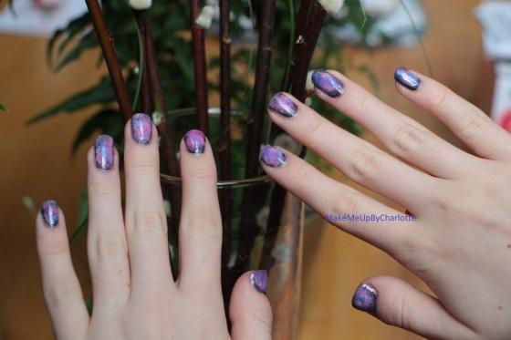 manucure-galaxy-galaxie-nail-art-vernis-blogueuse-tuto-tutoriel-rose-violet-brillant-nacré-facile