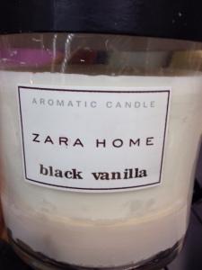 Bougie Zara Home Black Vanilla