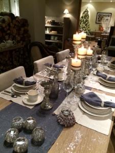 Flamant table bleu