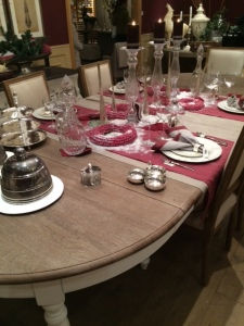 Flamant table rouge