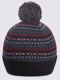 idées-cadeaux-hommes-noel-écharpe-marks-&-spencer-cachemire-pas-chère-blogueuse-avis-bonnet-laine-rond-pompom