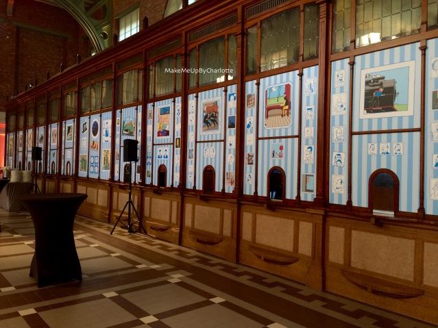 Milou-tintin-train-world-exposition-schaerbeek-bruxelles-gare-temporaire-sncb-musee-hergé-avis-article-blogueuse-dessins-tag-statue-guichet-surprises