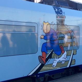 Milou-tintin-train-world-exposition-schaerbeek-bruxelles-gare-temporaire-sncb-musee-hergé-avis-article-blogueuse-dessins-tag
