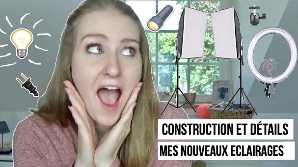 Les éclairages des youtubeuses beauté (détails + construction)
