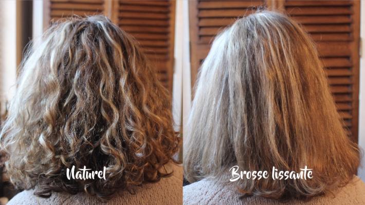 Lissage naturel de cheveux bouclés